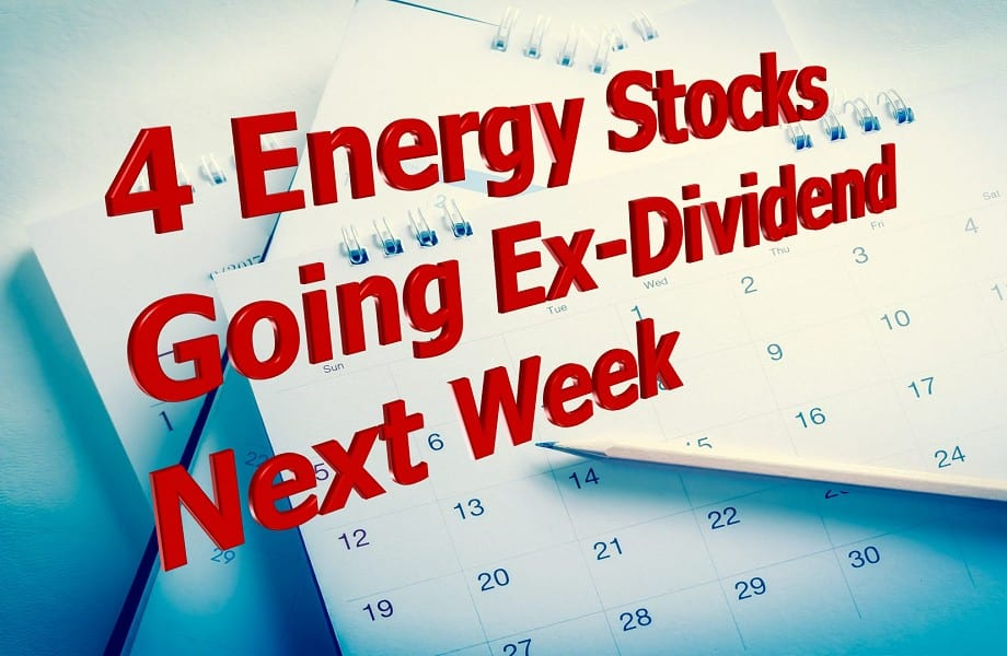 Stocks Going Ex-Dividend
