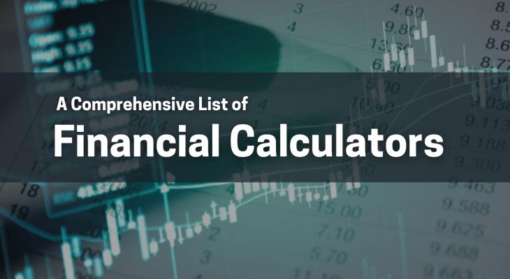 cover photo: financial calculators