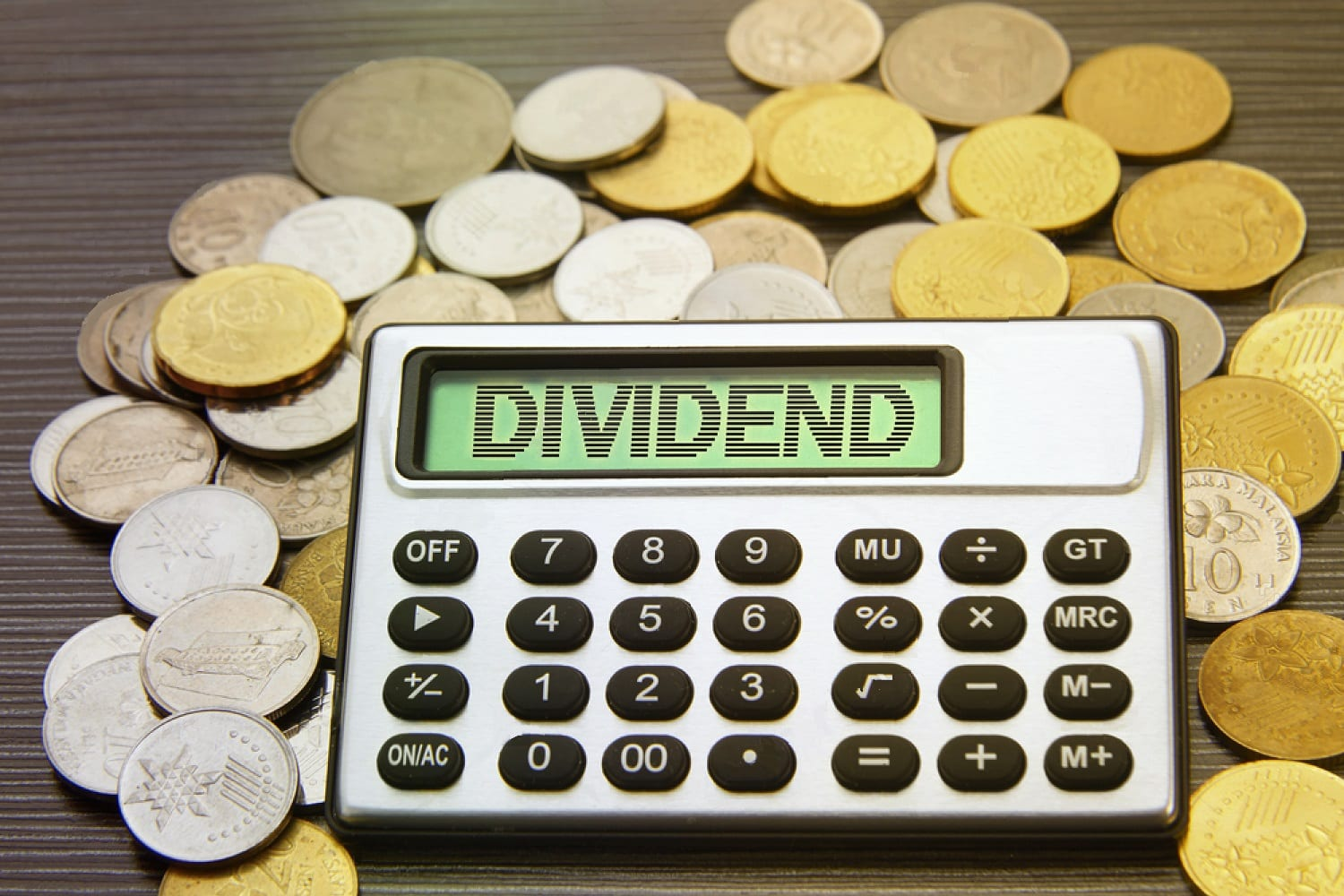 stock-photo-coins-and-silver-calculator-with-text-on-display-dividends-593619083